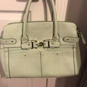 Mint green spring purse